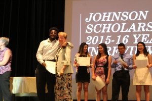 Sharon Wood graduating johnson scholars