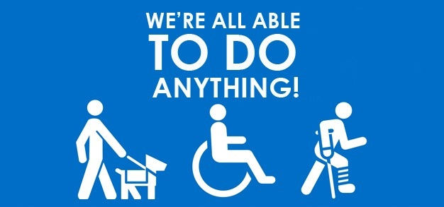 "Graphic saying ""we're all able to do anything!"""