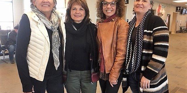 Group photo of Sherry Salway Black, Elsie Meeks, Tawney Brunsch, and Tanya Fiddler