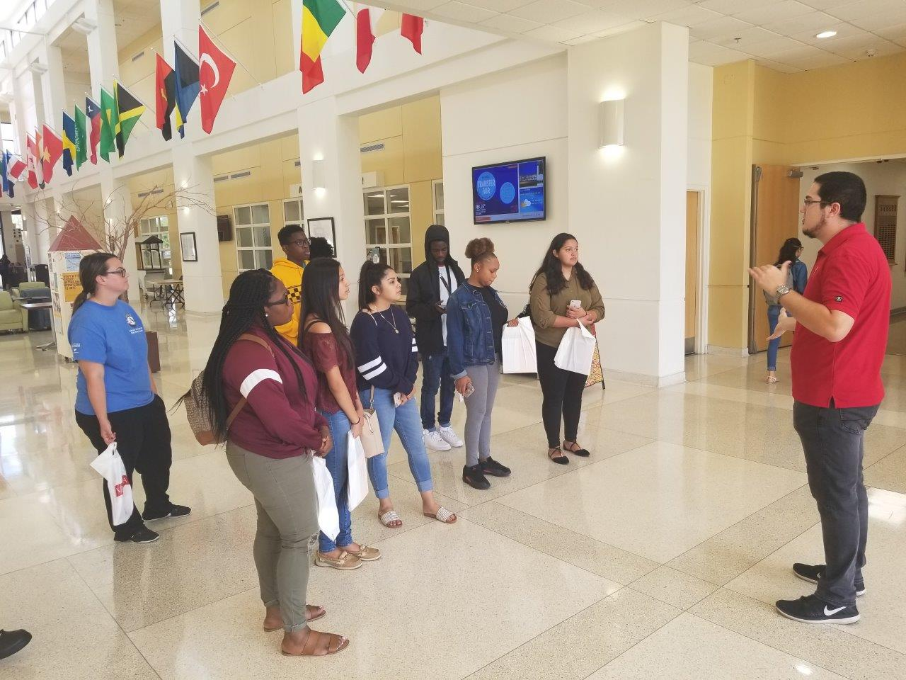 JTSP students  on one of the program's organized college tours